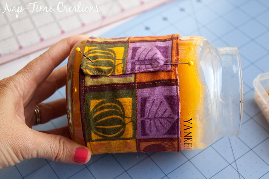 Candle Cosy Tutorial - Sew Cute Candle Assessories for Fall from Nap-Time Creations 2