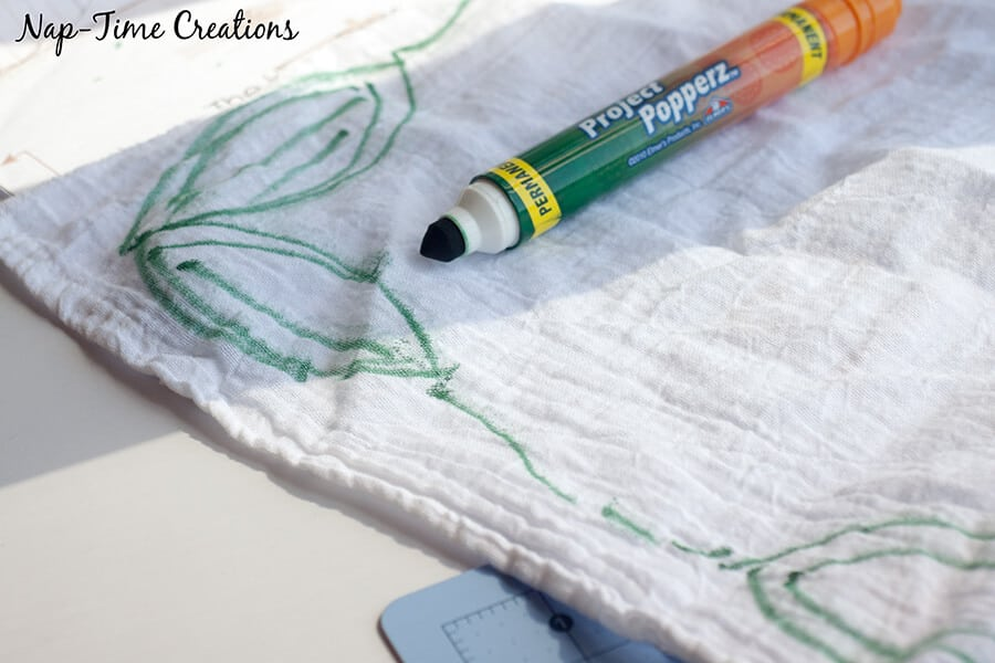 fall towel with sharpies 4