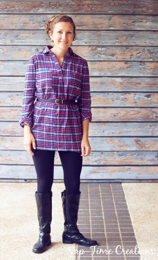 flannel fall tunic 3
