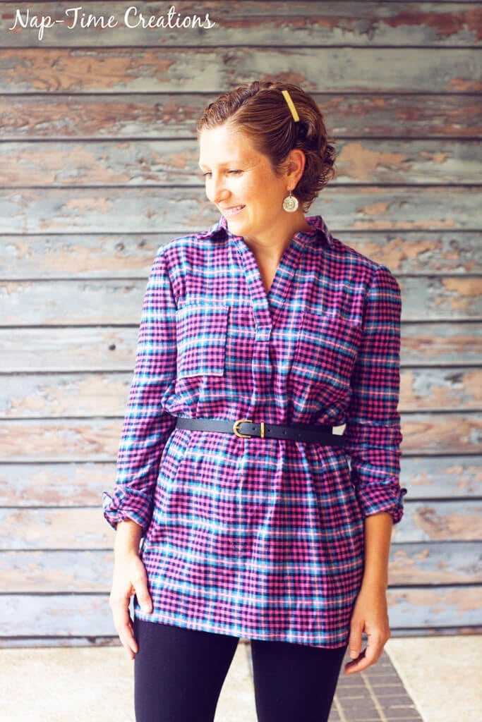 flannel fall tunic