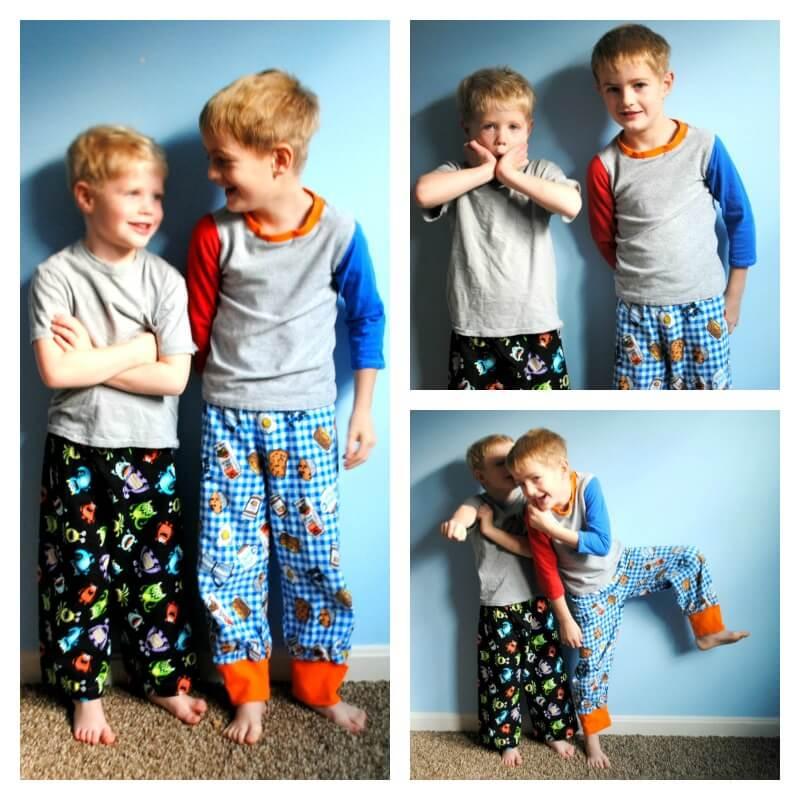pajama collage