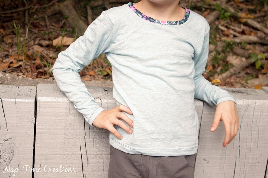 Girls Free T-Shirt Pattern Short-Long Sleeve 5