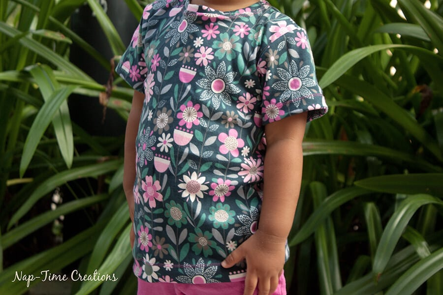 Girls Free T-Shirt Pattern Short-Long Sleeve 9