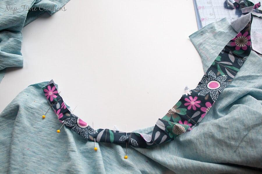 Girls Free T-Shirt Pattern Short-Long Sleeve tutorial6