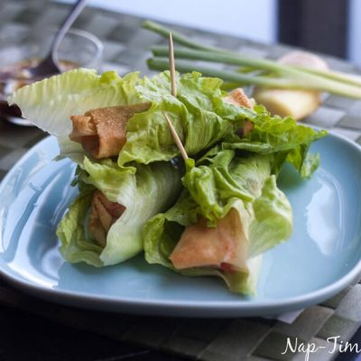 lettuce wrapped spring rolls