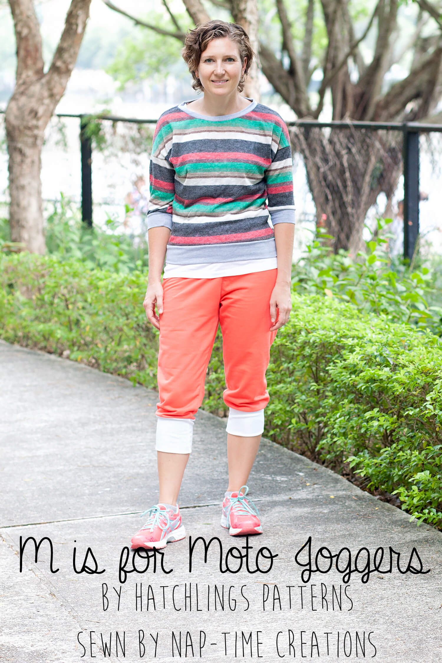 M is for Moto Joggers by Hatchlins patterns Sewn by Nap-Time Creations