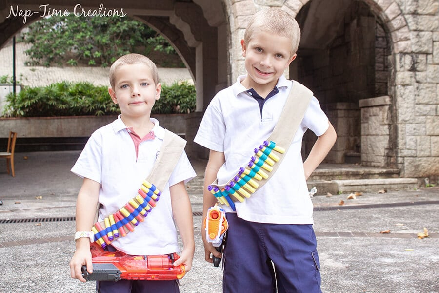 Nerf Ammo Holster tutorial from Nap-Time Creations 2