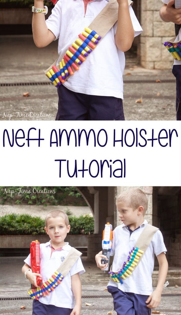Nerf Gun Ammo Holster tutorial from Nap-Time Creations
