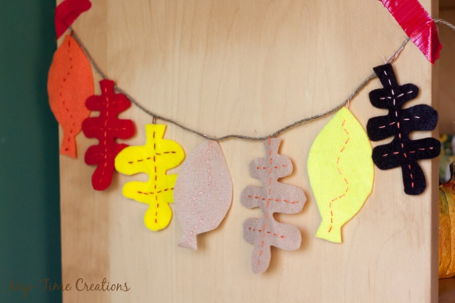 felt fall leaf garland 1