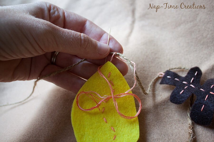 felt fall leaf garland 2