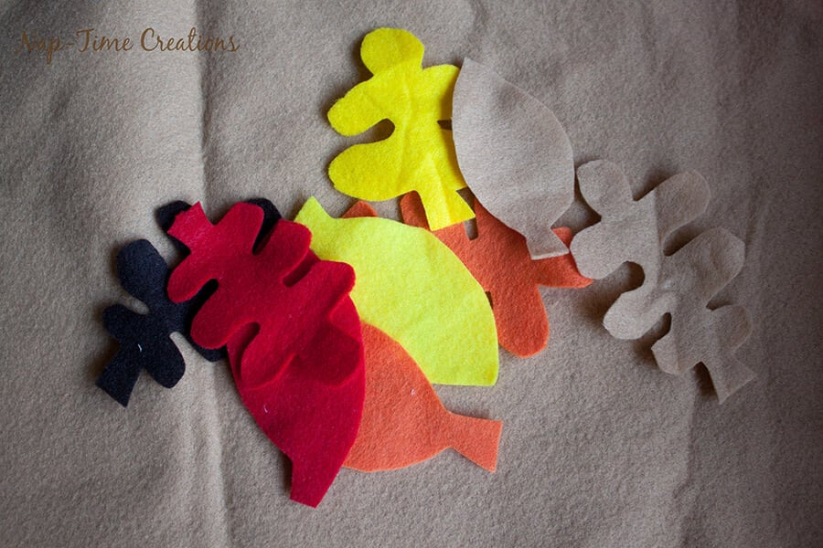 felt fall leaf garland 4