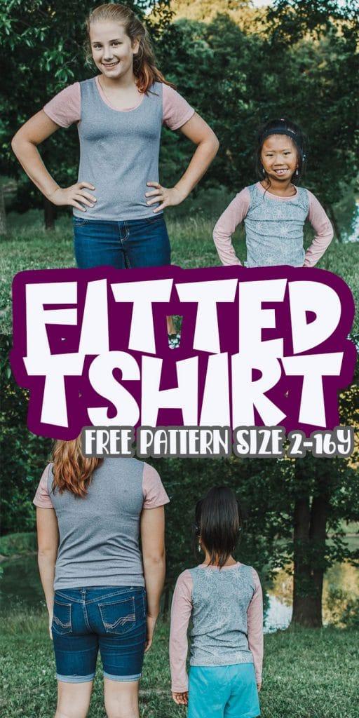 girls free tshirt pattern and tutorial