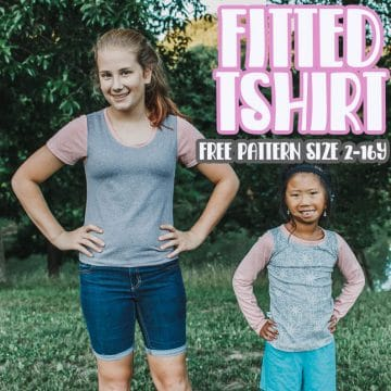 fitted tshirt free sewing pattern