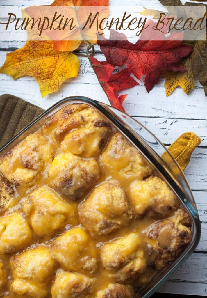 pumpkin monkey bread for fall on Nap-Time Creations