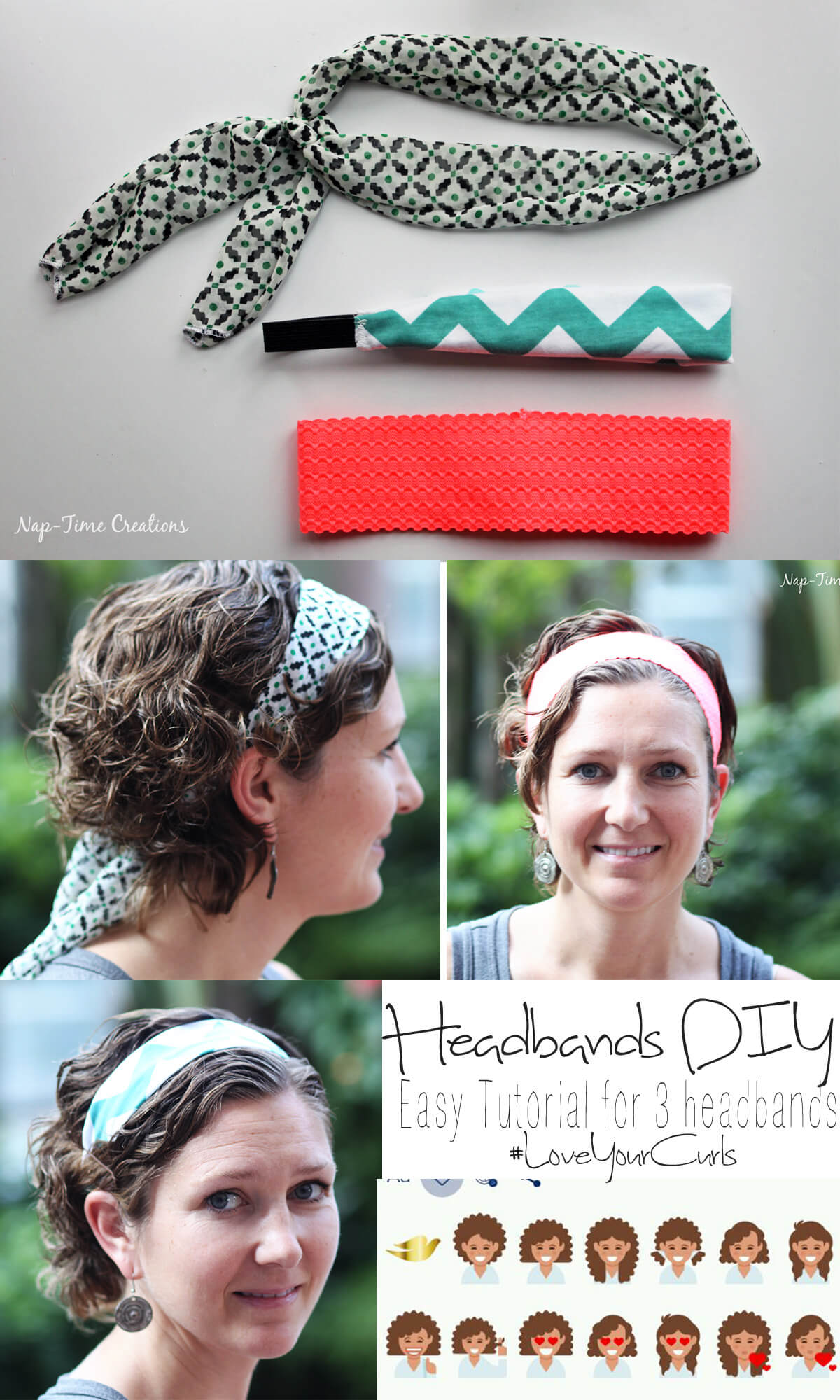 Easy Headbands DIY #LoveYourCurls #PMedia {ad} On Nap-Time Creations