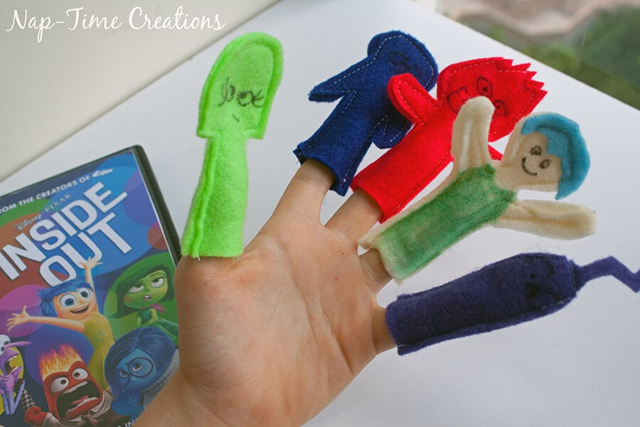 Inside Out Finger Puppets and DVD release #InsideOutEmotions From Nap-Time Creations 2