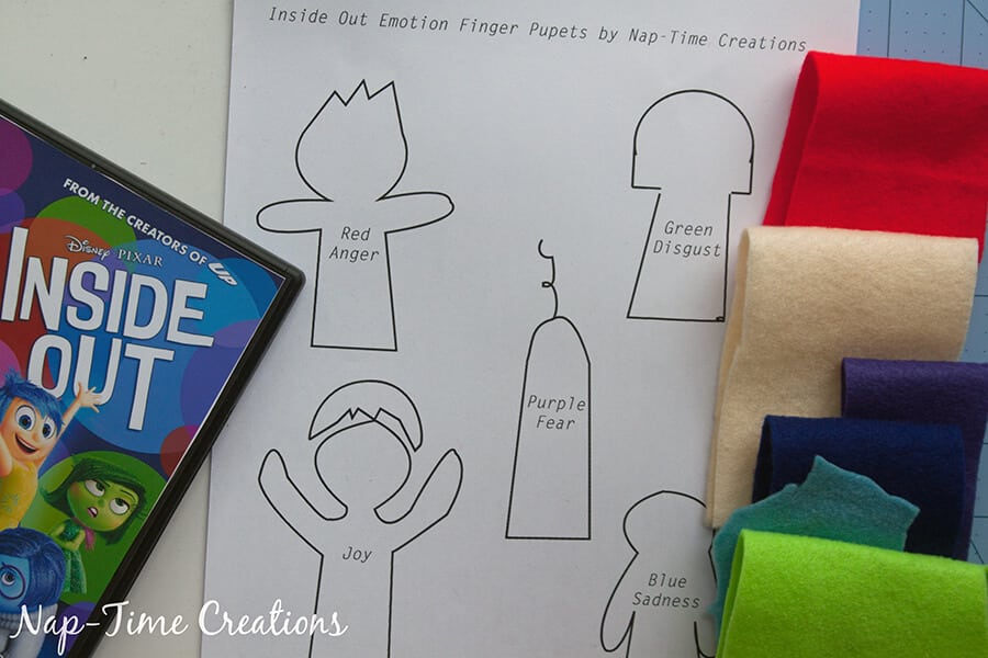 Inside Out Finger Puppets and DVD release #InsideOutEmotions From Nap-Time Creations 6