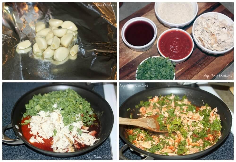 Kale Chicken with Ragu Rice 8