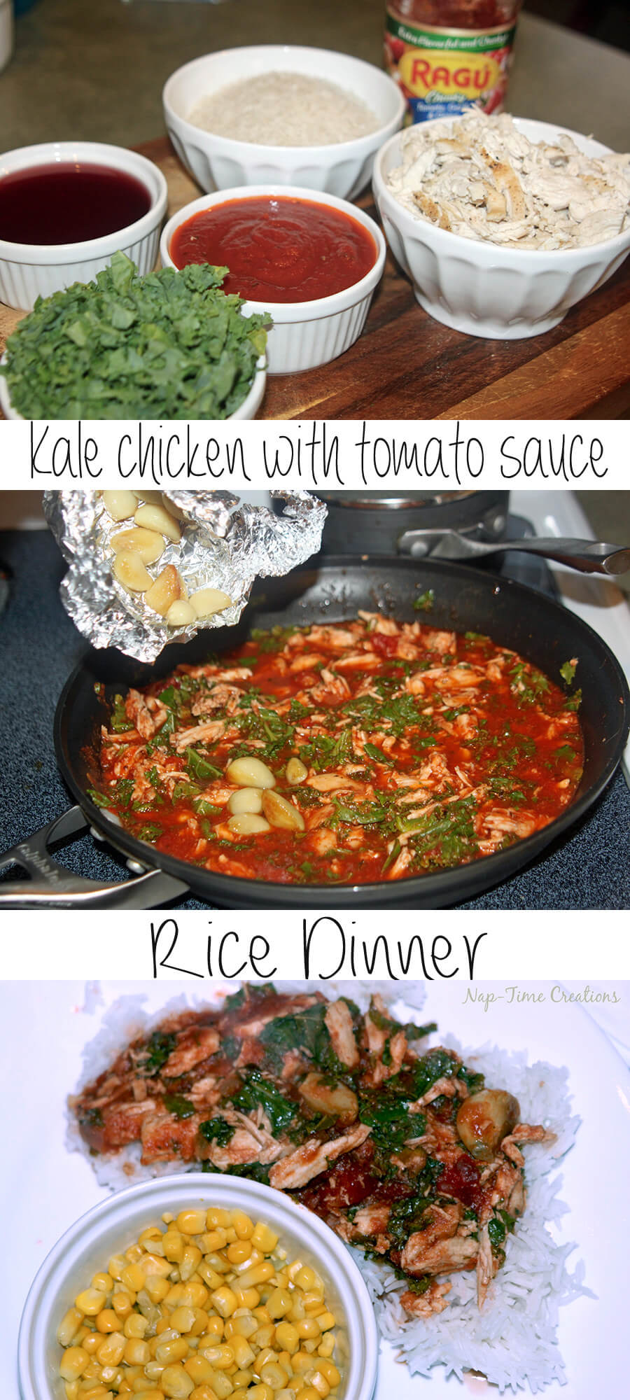 Kale Chicken with Ragu Rice on Nap-Time Creations