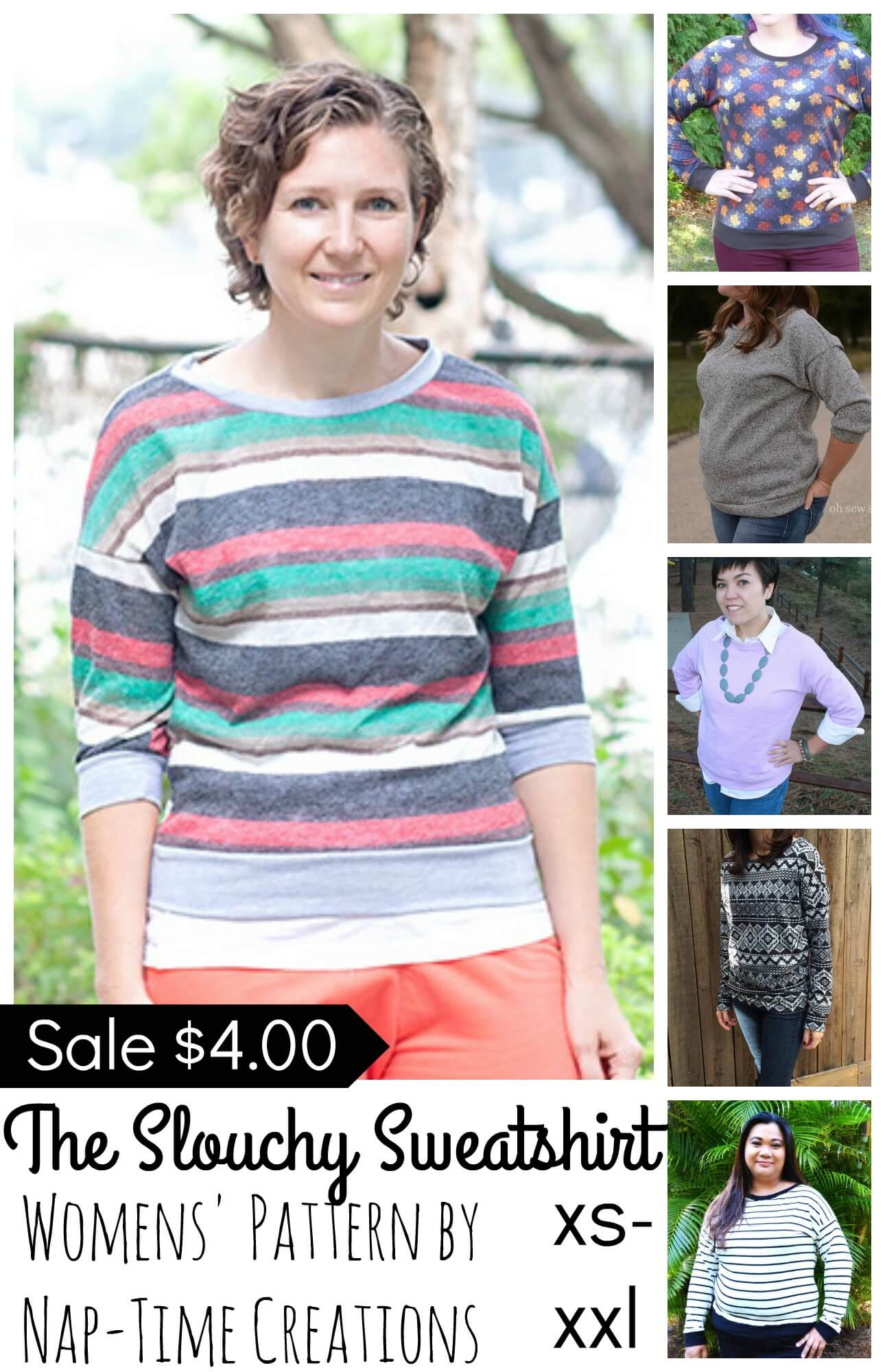 Slouchy Sweatshirt sale Collage