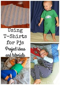 Upcycling T-Shirts to Pjs for kids