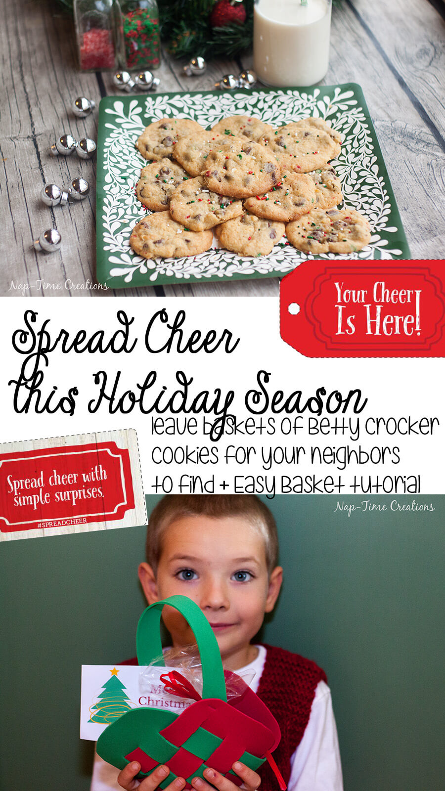 Woven Door Basket for #Spread Cheer with Betty Crocket from Nap-Time Creations