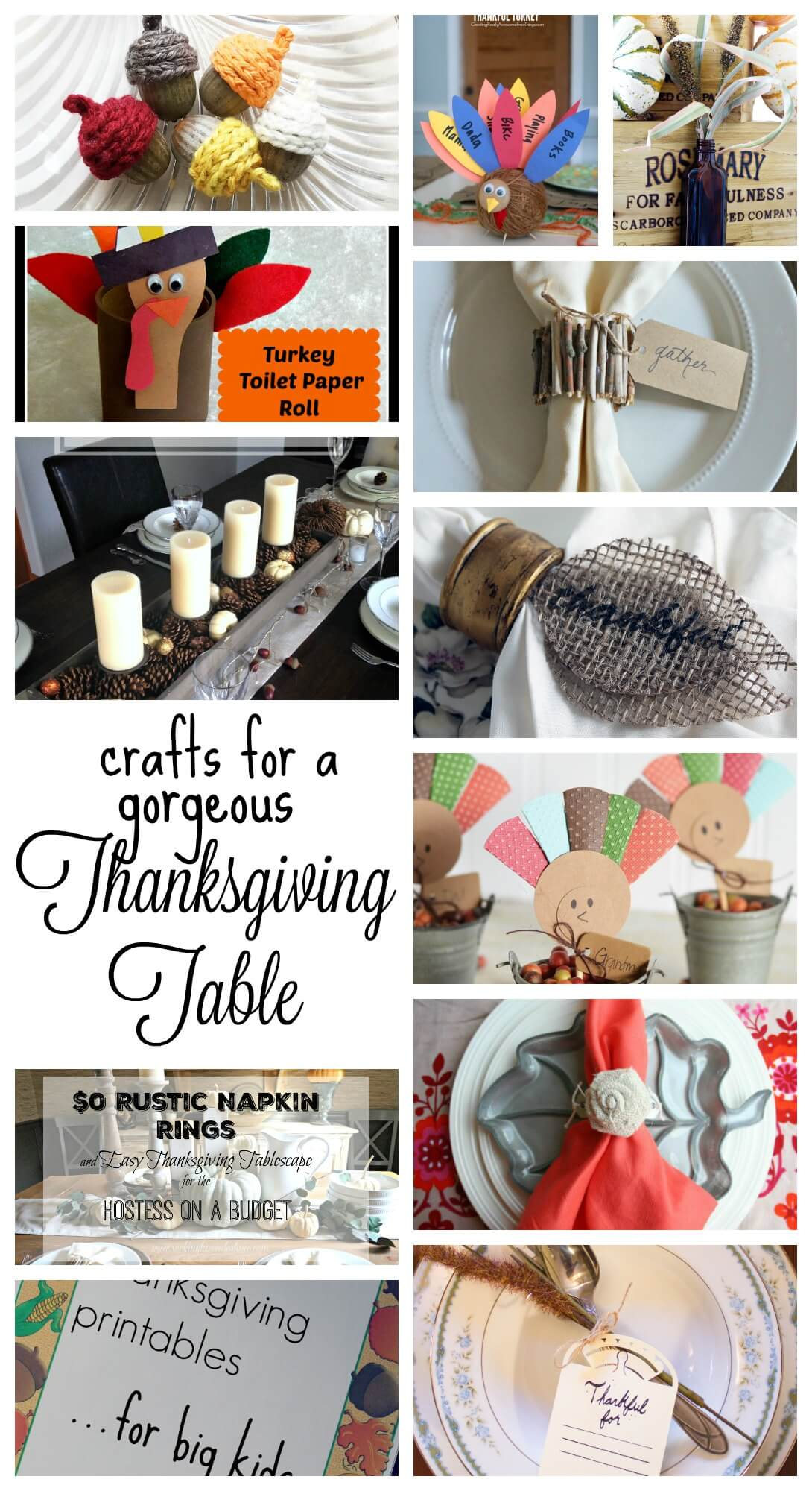 crafts for a gorgeous thanksgiving table