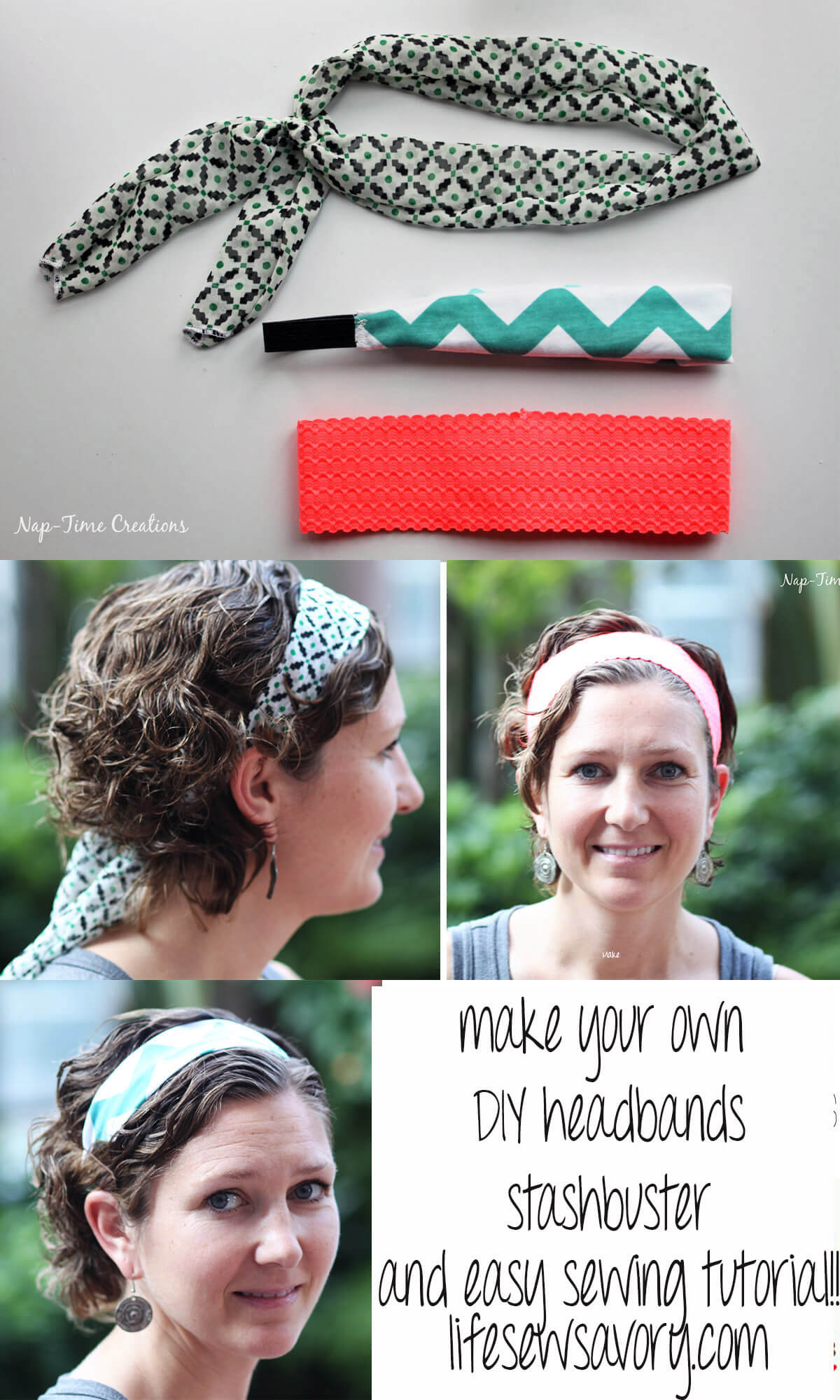 easy headbands DIY simple sewing tutorial and stashbuster from Life Sew Savory
