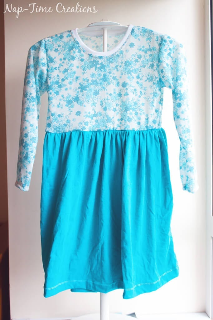 gathered skirt on shirt dress