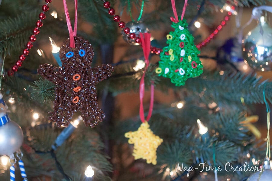 perler bead Christmas Ornament 2