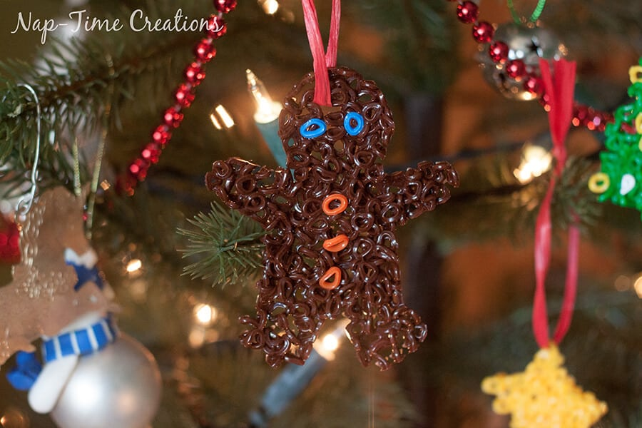 perler bead Christmas Ornament 4