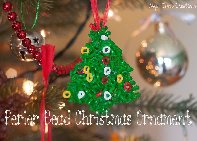 perler bead Christmas Ornament