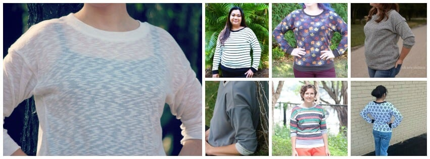 slouchy sweatshirt long collage