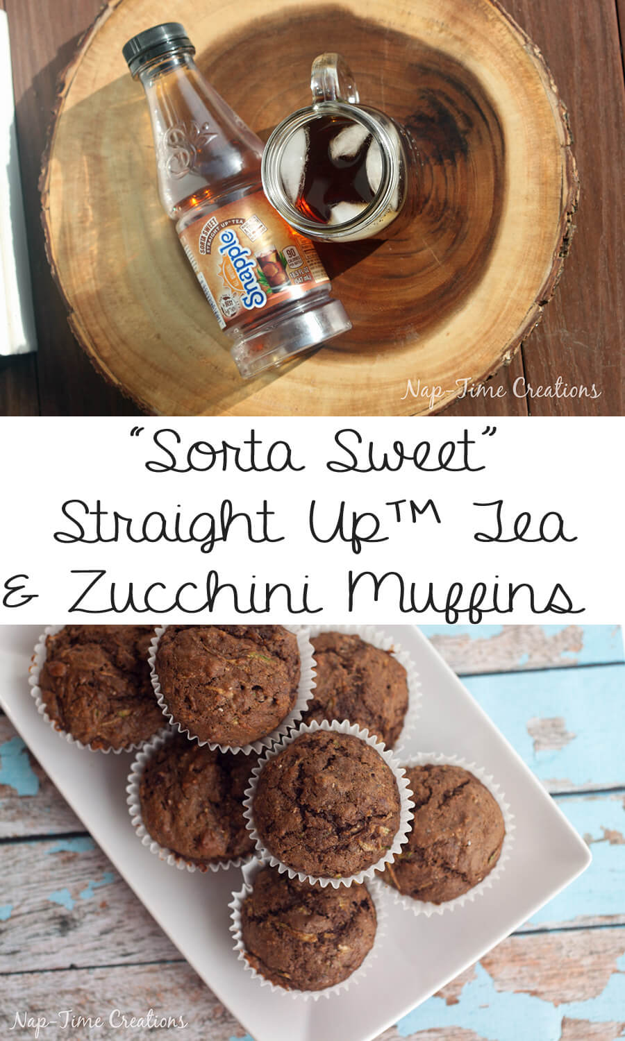 sorta sweet tea and zucchini muffin recipe from Nap-Time Creations