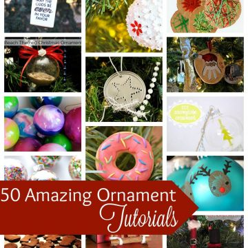 50 DIY Ornament tutorials and patterns from Nap-Time Creations