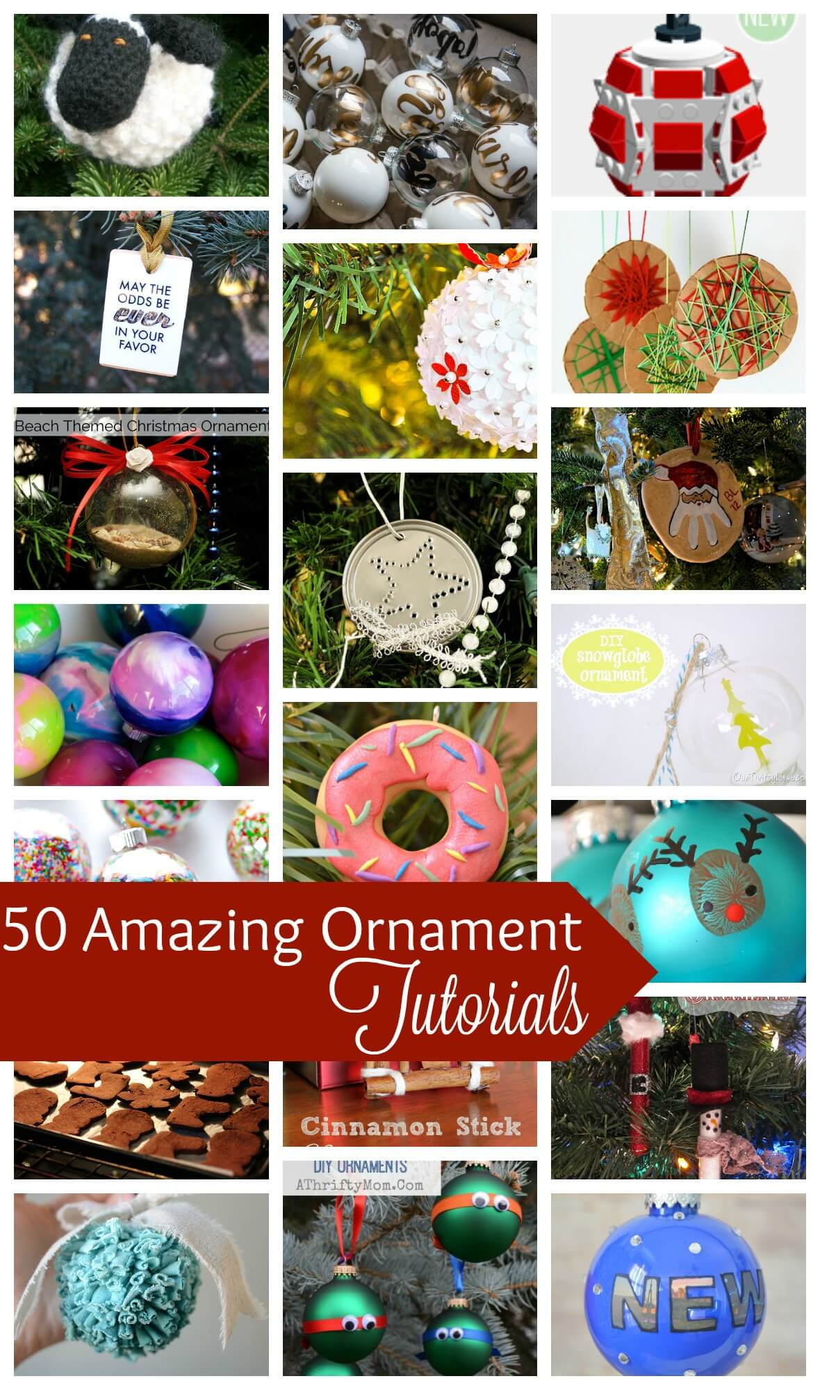 50+ DIY Ornament Tutorials