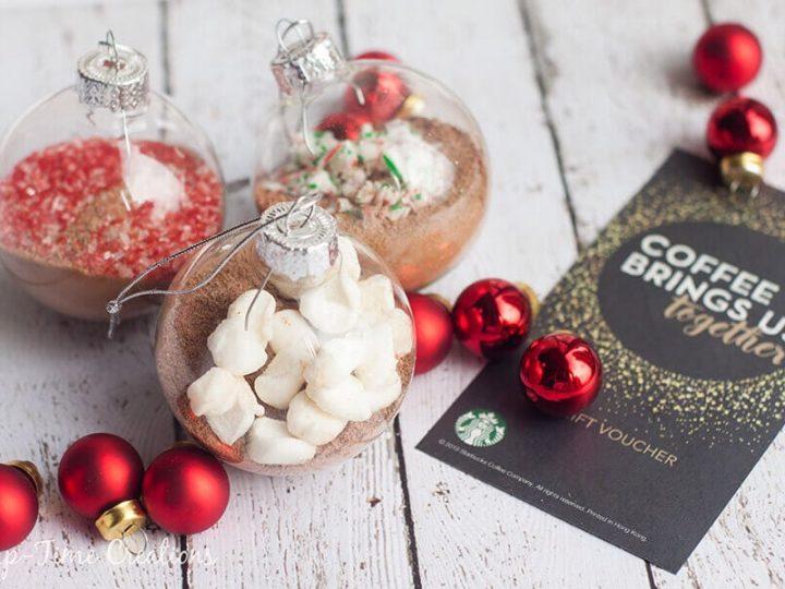 Homemade Hot Chocolate Ornaments Gift - Life Sew Savory