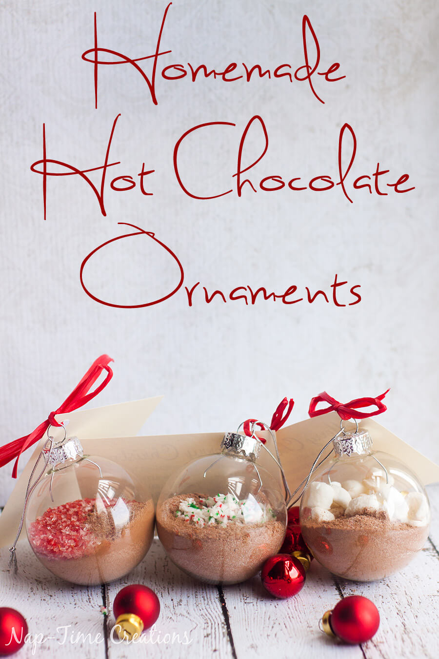 Homemade Hot Chocolate Ornament Gift and Recipe from Nap-Time Creations