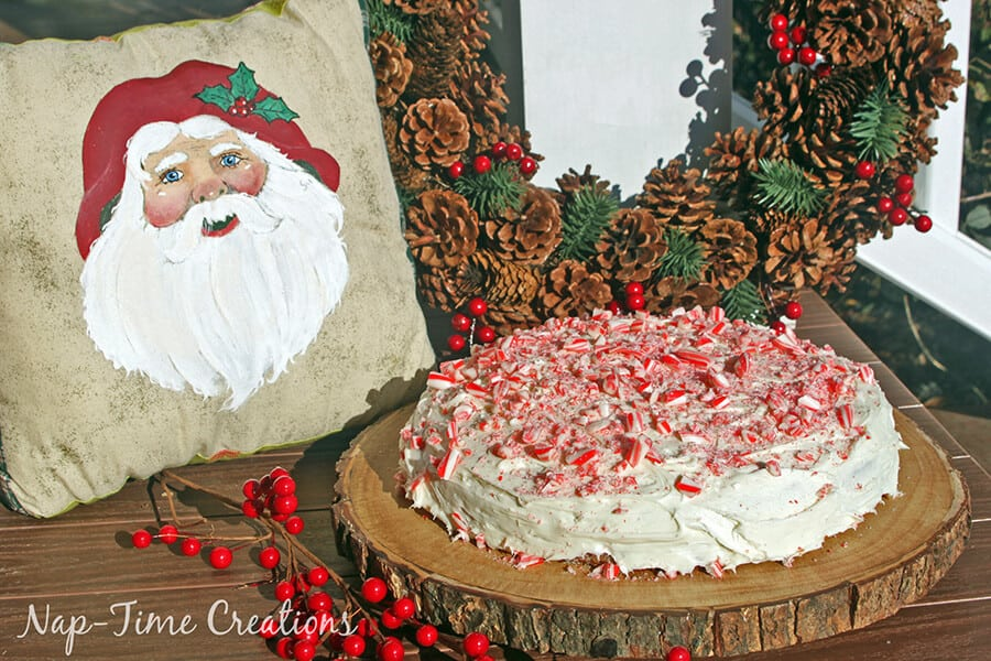 Peppermint Cookie Cake How To - Dress up a box cake from Nap-Time Creations #TheDessertDebate 7