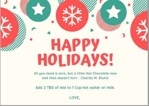 printable tag for hot cocoa