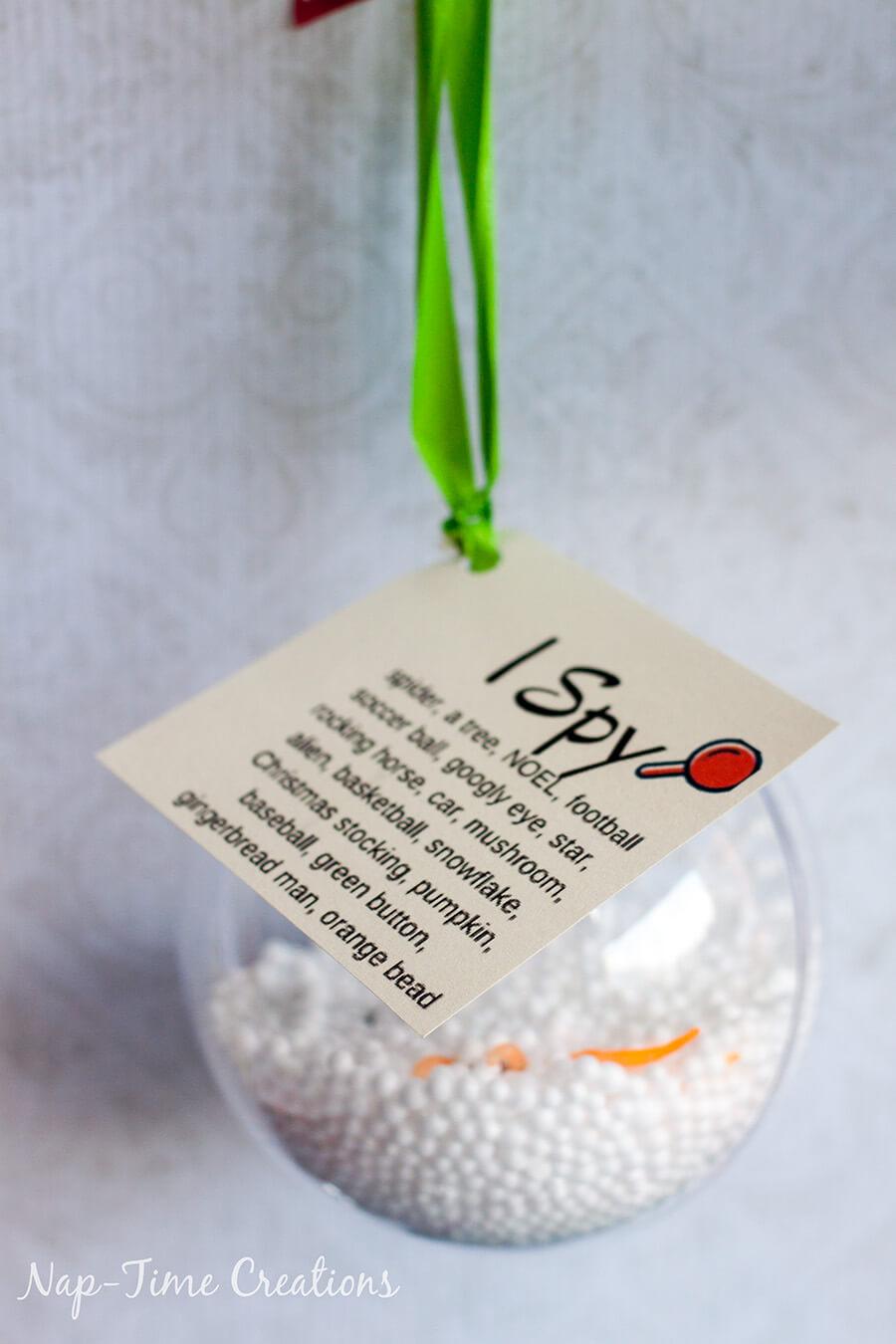 ornaments for kids gift ideas I SPY ornament