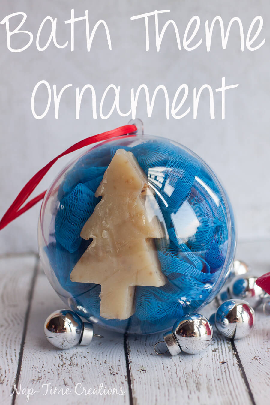 kid ornament ideas bath theme ornament from Life Sew Savory