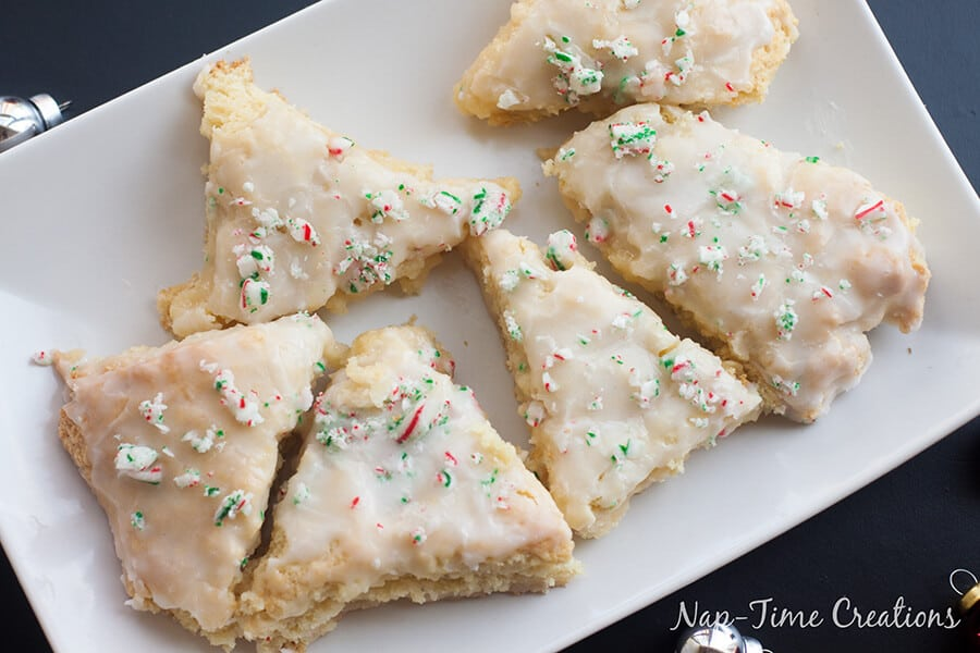 vanilla peppermint scones