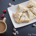 Vanilla Peppermint Scones with Starbucks Coffee