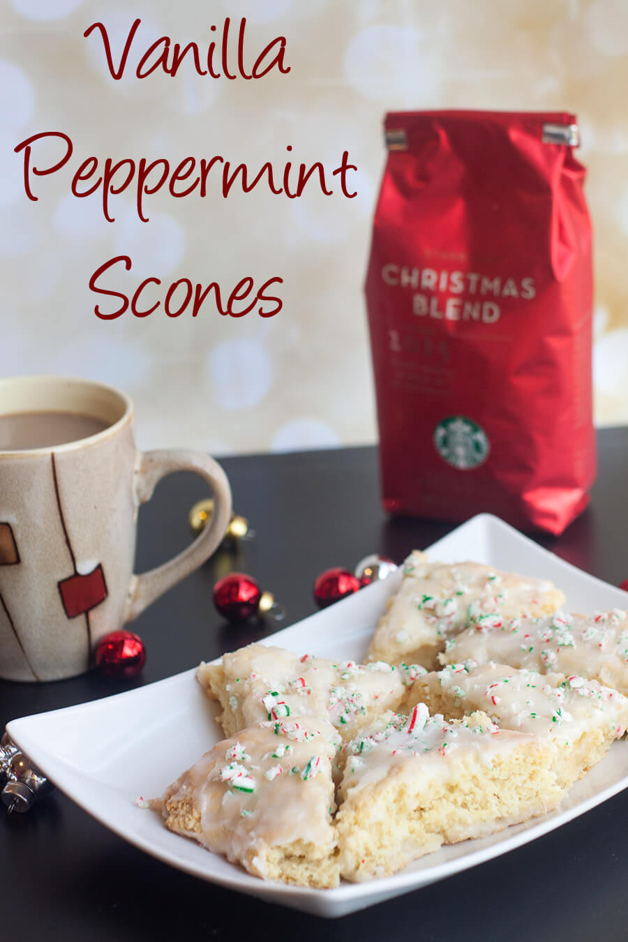vanilla peppermint scones recipe from Life Sew Savory