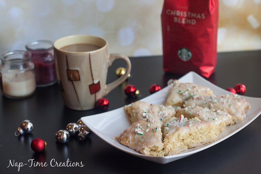 make holiday peppermint scones