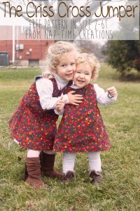Criss Cross Jumper Free Pattern in size 2-6T from Nap-Time Creations