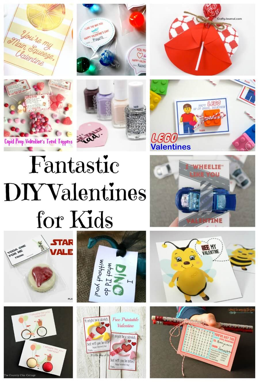 Fantastic DIY Valentines for kids from Nap-Time Creations
