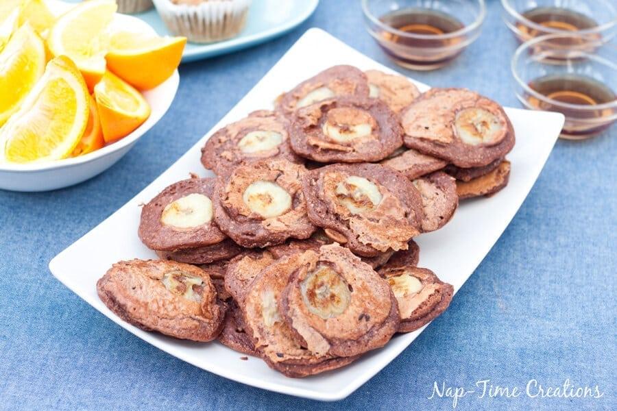 Whole Wheat Choco Banana Pancakes with Nesquik