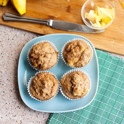 Whole Wheat Peanut Banana Muffins & Things to do more of in 2016